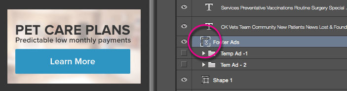 Linked file Layers Palette icon