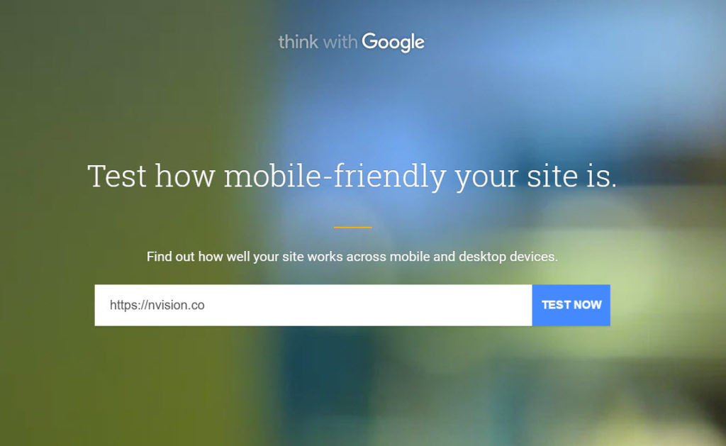 Google's Mobile Friendly Testing Tool