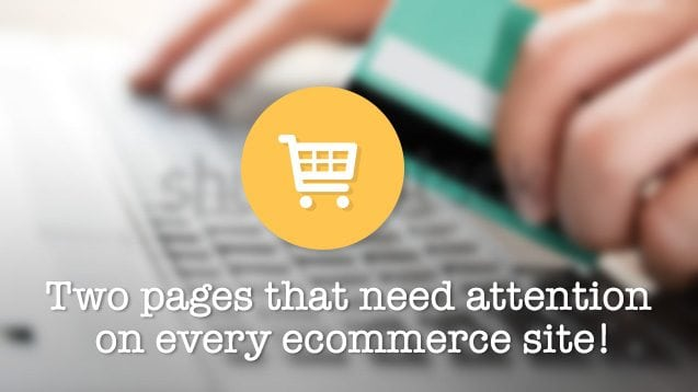 Two pages to improve on your ecommerce site | nvision